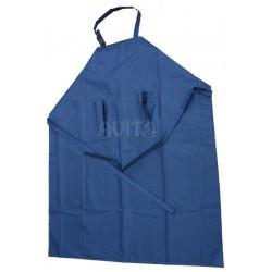 Fartuch dojarza  PCV 125/100 niebieski z 2 kieszeniami