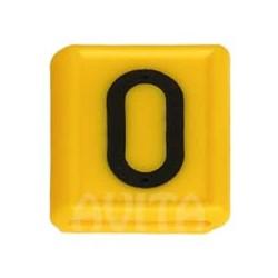 """Numer identyfikacyjny """"0"""", żółty 48 X 59 mm"""