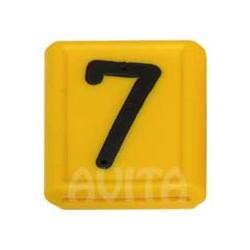 """Numer identyfikacyjny """"7"""", żółty 48 X 59 mm"""