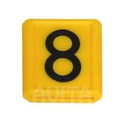 """Numer identyfikacyjny """"8"""", żółty 48 X 59 mm"""
