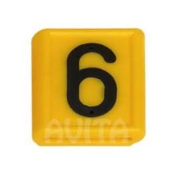 """Numer identyfikacyjny """"6"""" i """"9"""", żółty 48 X 59 mm"""
