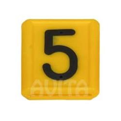 """Numer identyfikacyjny """"5"""", żółty 48 X 59 mm"""