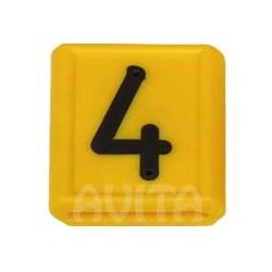"""Numer identyfikacyjny """"4"""", żółty 48 X 59 mm"""