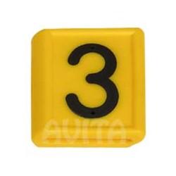 """Numer identyfikacyjny """"3"""", żółty 48 X 59 mm"""
