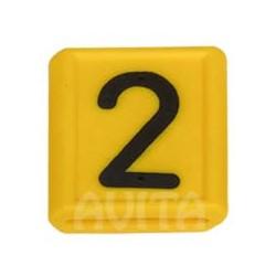 """Numer identyfikacyjny """"2"""", żółty 48 X 59 mm"""