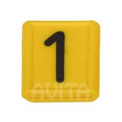 """Numer identyfikacyjny """"1"""", żółty 48 X 59 mm"""