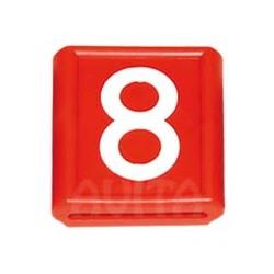 """Numer identyfikacyjny """"8"""", czerwony 48 X 59 mm"""