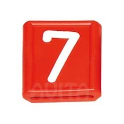 """Numer identyfikacyjny """"7"""", czerwony    48 X 59 mm"""