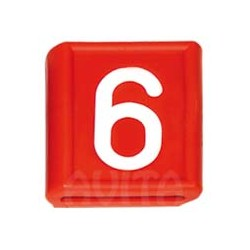 """Numer identy fikacyjny """"6"""" i """"9"""", czerwony 48 X 59 mm"""