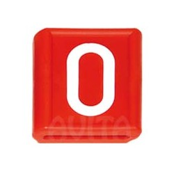 """Numer identyfikacyjny """"0"""", czerwony 48 X 59 mm"""
