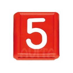 """Numer identyfikacyjny """"5"""", czerwony 48 X 59 mm"""