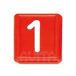 """Numer identyfikacyjny """"1"""", czerwony 48 X 59 mm"""