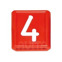 """Numer identyfikacyjny """"4"""", czerwony 48 X 59 mm"""