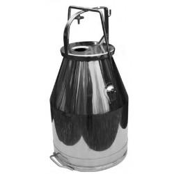 Steel milking bucket with lid 25 l