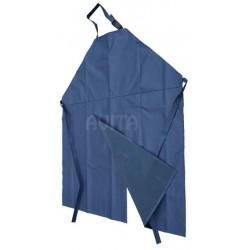 Fartuch dojarza PCV 125/100 niebieski z rozcięciem